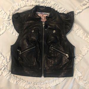 Juicy Couture leather vest